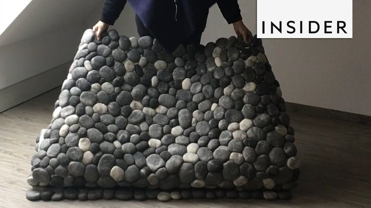 These felt stone rugs mimic real rocks. https://www.facebook.com/thisisinsiderdesign/videos/475114732830161/