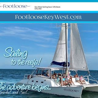 Key West sailing adventures! www.footloosekeywest.com #sail #tours #sailing #footlooseKeyWest #KeyWest