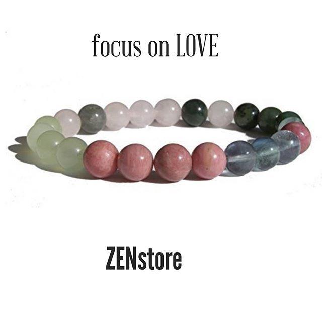 What we focus on grows let's focus on LOVE and LOVE focuses on you. #ZENstore #love #focus #gemstonesjewelry #gemstonebracelet #healthylifestyle #crystal #crystalhealing #reiki #schmuk #armband #herzchakra #heartchakra #chakra #healingstones #bijoux #lithoterapie # yoga #yogalove #yogajewelry #valentinesday