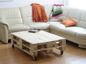 natúr raklap asztal / pallet coffee table