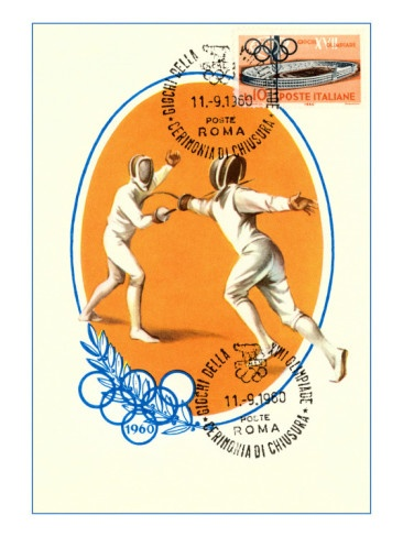 Olympic Fencing, 1960.