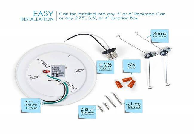 Dimmable Led Disk Light Dimmable Led Disk Light Shower Installation