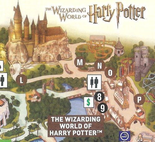 Universal Islands of Adventure map - Harry Potter Theme ...