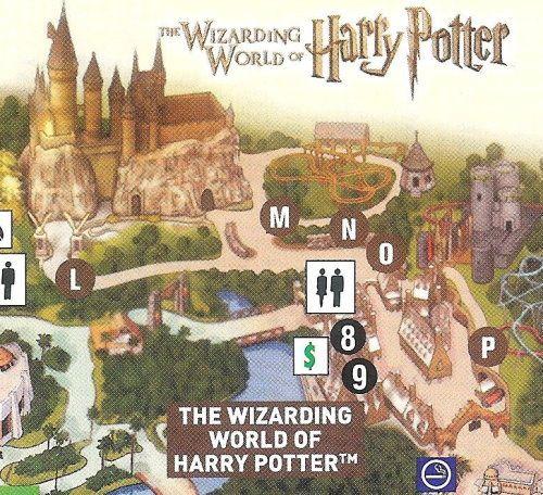 Universal Islands of Adventure map - Harry Potter Theme ...