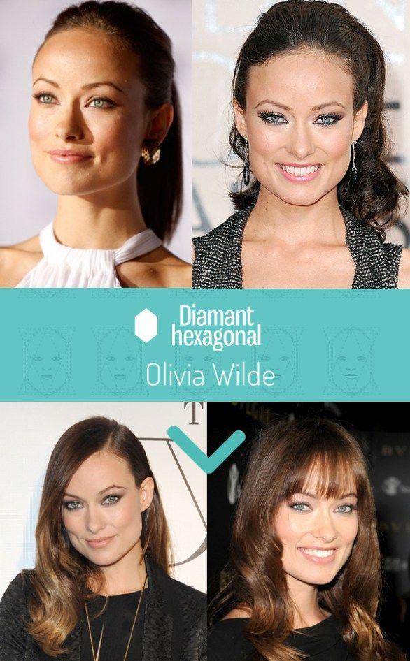 Coiffure Visage Diamant Olivia Wilde Coupe De Cheveux Visage Visage Coiffure