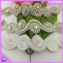 Bruiloft decoratie kristal strass trimmen voor kleding, ab strass bling naai de applique(China (Mainland))