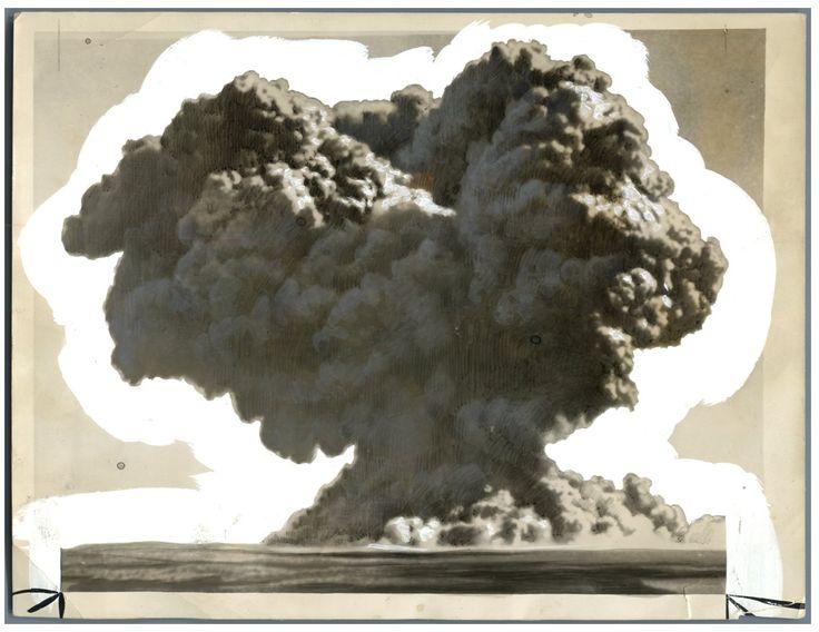 Îles Montebello, Champignon du premier essai nucléaire britannique (Operation Hurricane)    #Photographie_Scientifique
