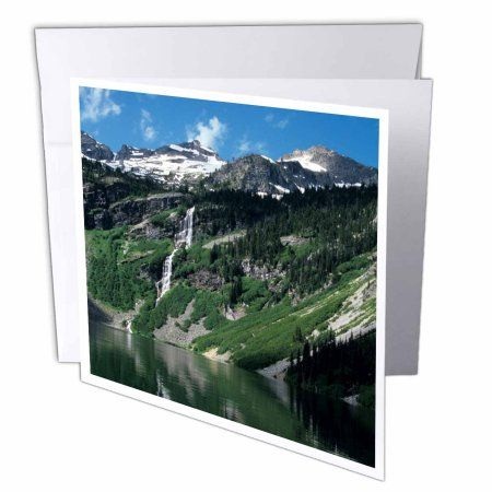 3dRose WA, Okanogan NF, Rainy Lake, Frisco Mountains - US48 JWI1888 - Jamie and Judy Wild, Greeting Cards, 6 x 6 inches, set of 6
