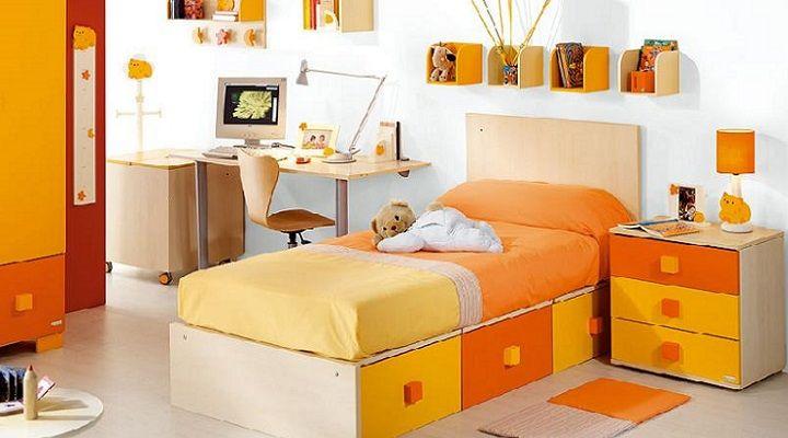 Domitorio infantil colores naranja