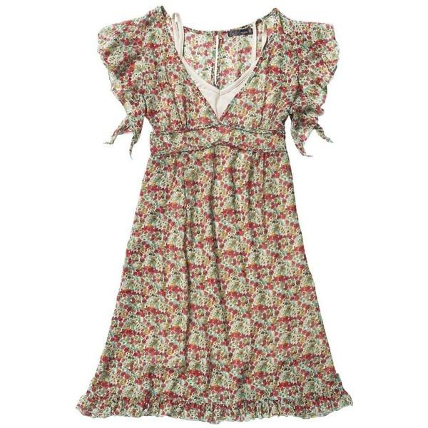 Multi coloured fun tea dress, found on polyvore.com