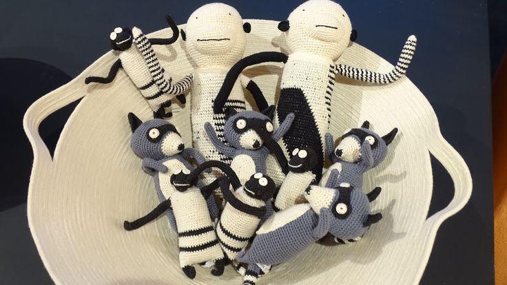 """Crochet cotton """"creatures"""" - Fibre Cotton Vessel - Kim Sacks Gallery, Johannesburg"""