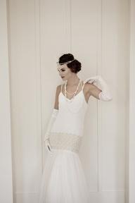 2013 Wedding Trend | Roaring '20s - Twenties wedding dress from Lindsay Fleming - #weddingtrends #gowns #bridal #1920s