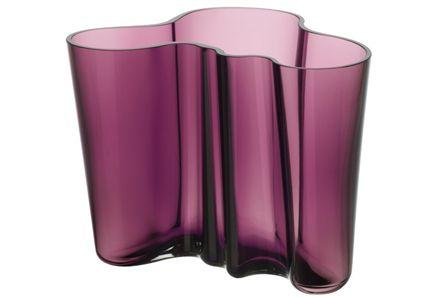 Iittala Aalto maljakko 160 mm tumman lila - mieletön väri: kuvittele liilojen tulppaanien kanssa!