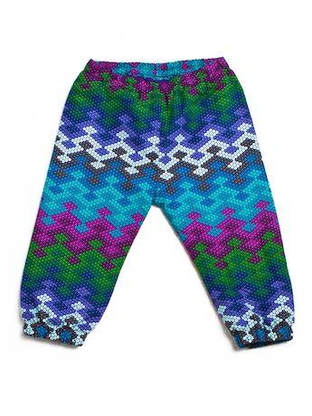 Pantalonki Waves Blue, Projektant: Pan Pantaloni, Wartość: 98 zł, Radość z bycia matką: bezcenne. Powyższy materiał nie stanowi ofery handlowej