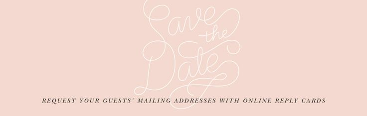 I highly recommend people check out Paperless Post for all sorts of beautiful electronic cards, especially 'Save The Dates'