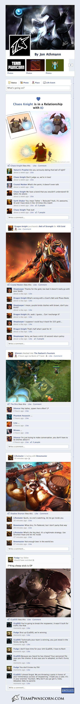 Los héroes de Dota 2 en Facebook