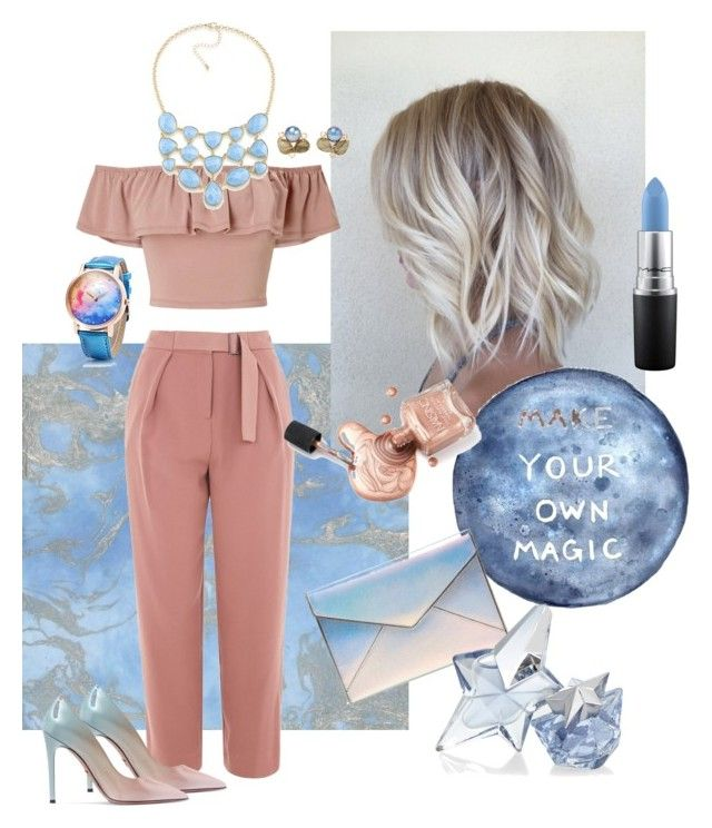 """""""Off the Shoulder"""" by sunet-vermaak on Polyvore featuring Topshop, Rebecca Minkoff, Miss Selfridge, Prada, Bounkit, 1st & Gorgeous by Carolee, Thierry Mugler, MAC Cosmetics and bestiled"""