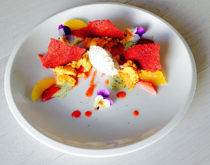 MARKET STRAWBERRIES. carrot. poppy. alfalfa. #mkonline student sofia, creates one of M.A.K.E.'s signature dishes from the comfort of h...
