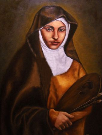 Image result for saint catherine of bologna patron saint of art