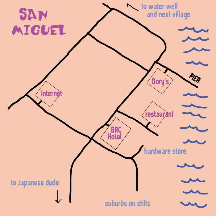 Map of San Miguel, Linapacan