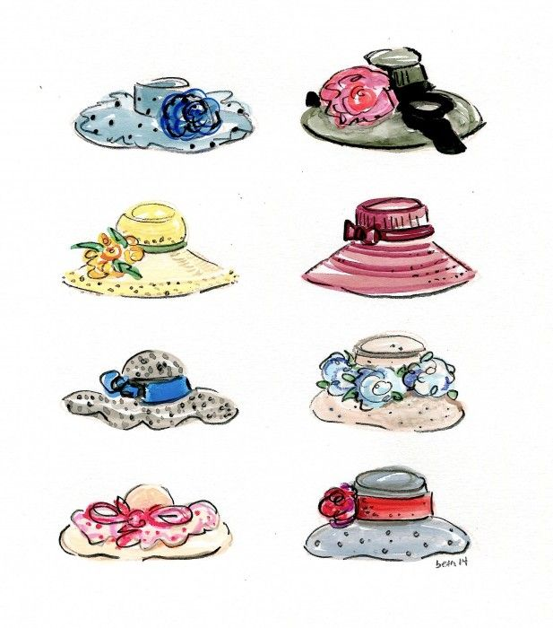 Image result for preppy derby hat drawing
