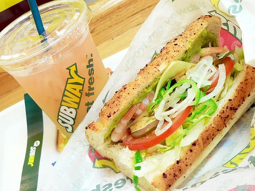 I love subway! I usually get the provolone and pepper-jack double cheese with chipotle dressing and all the veggies sandwich!