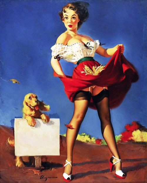 """Fresh Breeze"" by Gil Elvgren (1950): Oil Paintings, Canvas Prints, Art Prints, Fresh Breeze, Pinupgirl, Pinup Girls, Pinup Art, Gil Elvgren, Pin Up Girls"