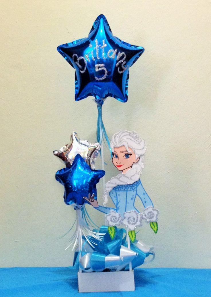 DIY Centro de mesa FROZEN Elsa globo foamy Elza ...