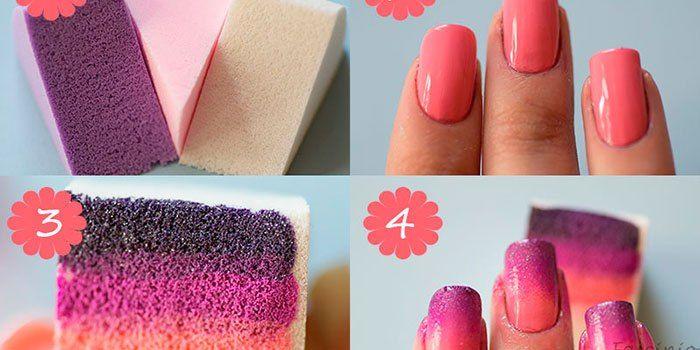 Você sabe fazer degradê com esponja? Venha conferir o passo a passo e se surpreender com a mani final!!!  http://fascinioporesmaltes.com/dicas-passo-a-passo-unhas-esponjadas/
