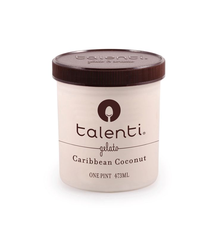 Talenti Caribbean Coconut gelato. Fresh cream, milk, sugar and vanilla come together with tender coconut sourced from the Philippines—which is nowhere near the Caribbean. Just go with us on this one because geographical discrepancies taste amazing.