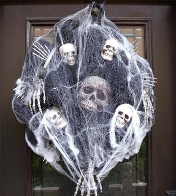 halloween wreath.  And I'm doing this one