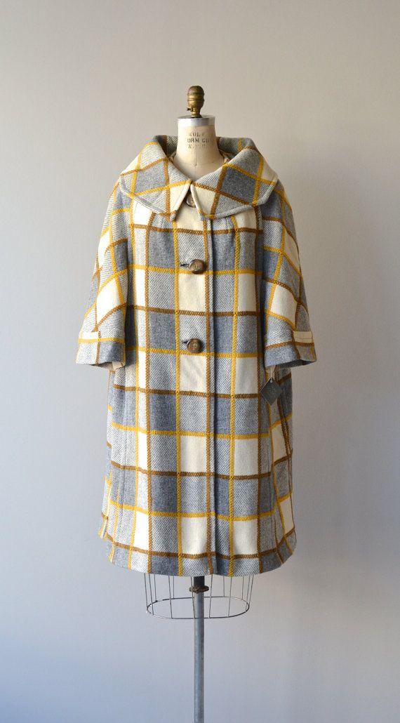 Tabberdesh Plaid wool coat 1960s vintage coat by DearGolden
