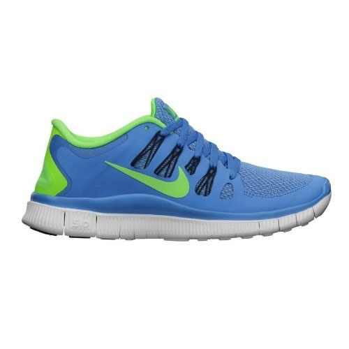 Nike Free 50 Womens Blue Flash Lime Green Running Training Shoes * You can find more details by visiting the image link.