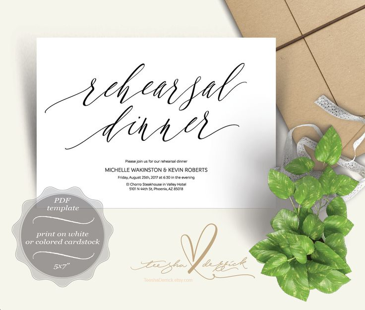 17 Best images about Wedding Rehearsal Dinner Card Design on – Dinner Card Template