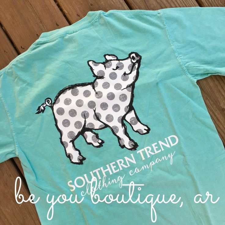 """Southern Trend """"Polka Dot Pig"""" Short Sleeve Tee from Be You Boutique Arkansas"""