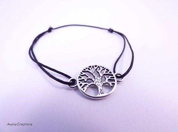 Bracelet nœud coulant Bracelet arbre de vie  par Axellecreations