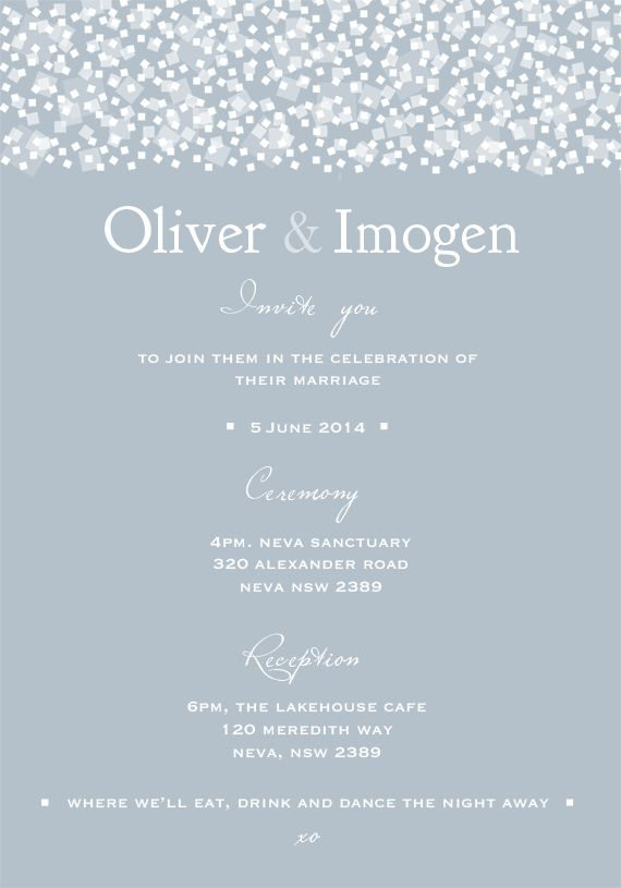 Sica Wedding Invitations | the white notebook #wedding #engaged #invitation #invitations #romantic #modern #love #cursive #snowfall #blue #winter