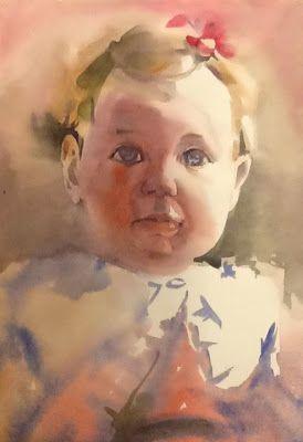 Pintar a la acuarela: RETRATO NIÑA