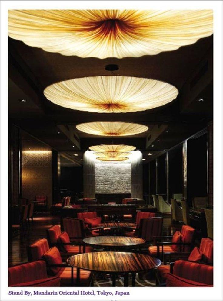 Круглые лампы в кафе