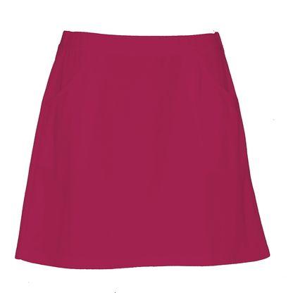 Ladies golf skirt in pink.