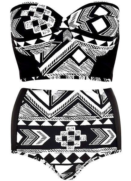 Aztec High Waist #Bikini #Set