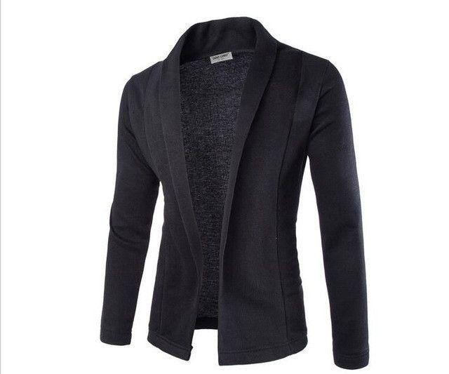 2017 Men no button cardigan hit color thin Hoodies casual man Sweatshirts Jackets man coat M-2XL(asian size)
