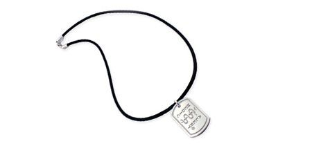 London Dog Tag Sport – Polished (Item #444)  Define your style with the London Sport Tag necklace. The sterling silver dog style tag is crafted in a high polished finish and strung with a latex-free rubber strand for a casual and sophisticated look.