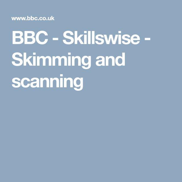 BBC - Skillswise - Skimming and scanning