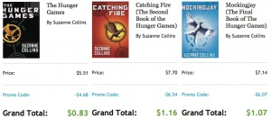 UPDATE – Check out this link for details on how to download these eBooks to your Kindle (Thanks, Deborah!) If you're interested in reading The Hunger Games books and own an e-reader, iPad, or Kindle?, you may want to check out this deal on Kobo.com! Currently, you can downlaod all 3 eBooks of The Hunger [...]