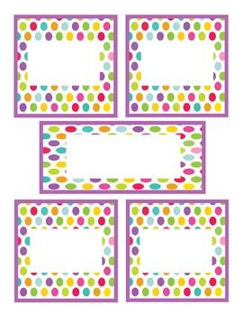 Free-Polka-Dot-Classroom-Labels-741539 Teaching Resources - TeachersPayTeachers.com
