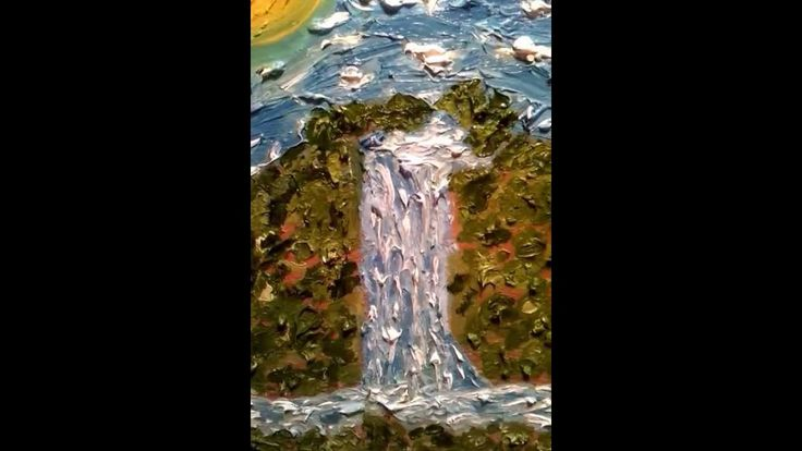 """ HEAVENLY WATERFALL""     expressionist  Sarkis Yerevanci"