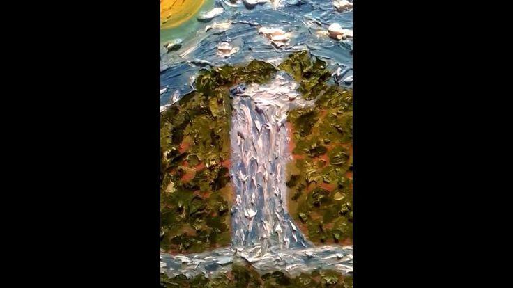""" HEAVENLY WATERFALL""     expressionist  Sarkis Yerevanci"