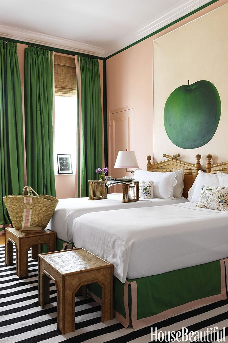 The green tulip house chiang mai - Love The Use Of Pink Ribbon To Outline The Draperies And Bedskirt Pink And Green