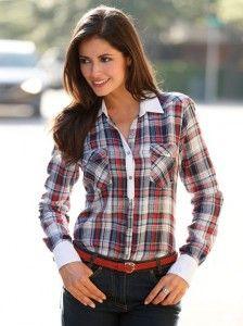 camisa-mujer-cuadros-100-algodon-cuadros   Supernatural Style